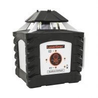 Ротационен лазерен нивелир LASERLINER Quadrum One Touch 410S, червен лазер клас 2, обхват 400m, точност 0.75mm/10m, автом./ръчно