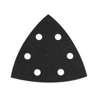 Шкурка велкро MAKITA 94х94х94мм Р120, за камък, с 6 отвора, черна, триъгълна, самозалепваща