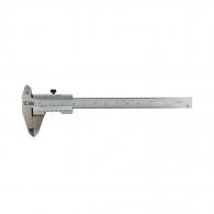 Шублер двустранен ЗИИУ Стандарт 0150 100мм, ± 0.05, с дълбокомер, стопорен винт, неръждаема стомана
