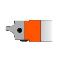 Сменяеми пластини CMT 25х24.8х2мм R5-10, HW, за режеща глава, к-кт 2бр