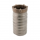 Боркорона с твърдосплавни пластини RITTER 68х100/80мм, за бетон и зидария, с вътрешна резба (система Versio), сухо пробиване - small, 137001