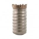 Боркорона с твърдосплавни пластини RITTER 68х100/80мм, за бетон и зидария, с вътрешна резба (система Versio), сухо пробиване - small