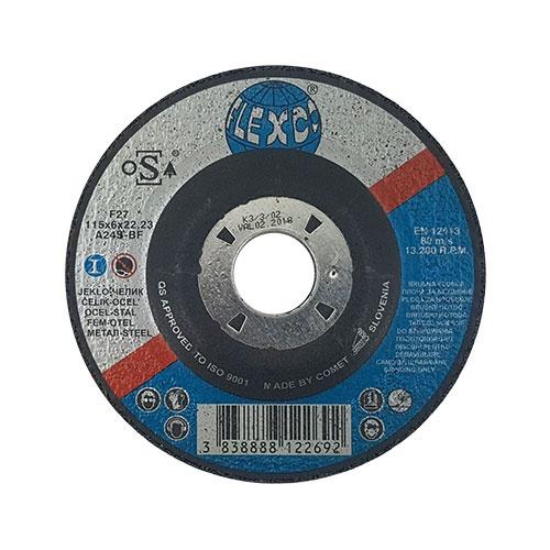 Диск карбофлексов SWATYCOMET FLEXCO 115х6.0х22.23мм, за шлайфане на метал