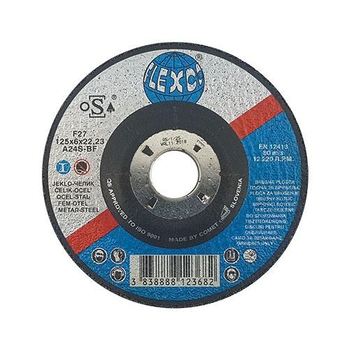 Диск карбофлексов SWATYCOMET FLEXCO 125х6.0х22.23мм, за шлайфане на метал