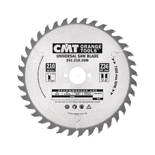 Диск с твърдосплавни пластини CMT 140/2.4/20 Z=20, за рязане на мека и твърда дървесина, шперплат