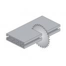 Диск с твърдосплавни пластини CMT 216/2.8/30 Z=64, за рязане на алуминий, месинг, медни сплави, пластмаса, меламин и др. - small, 87382