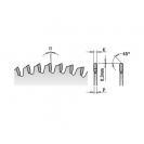 Диск с твърдосплавни пластини CMT 260/2.8/30 Z=80, за рязане на алуминий, месинг, медни сплави, пластмаса, меламин и др. - small, 85699