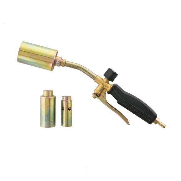 Горелка за пропан-бутан PROVIDUS AX075, с три дюзи ф22/30/45мм, със спусък, дължина 35см