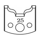 Нож профилен PILANA 25, 40x4мм, инструментална стомана - small
