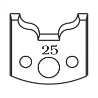 Нож профилен PILANA 25, 40x4мм, инструментална стомана