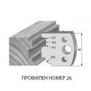 Нож профилен PILANA 26, 40x4мм, инструментална стомана - small, 16450