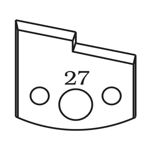 Нож профилен PILANA 27, 40x4мм, инструментална стомана