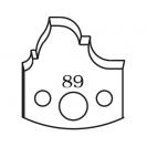 Нож профилен PILANA 89, 40x4мм, инструментална стомана - small