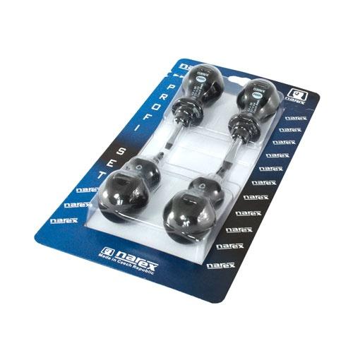 Отвертки комплект NAREX MINI PROFI 4части, къса, PH, SB, еднокомпонентна дръжка