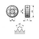 Плашка BUCOVICE TOOLS М3х0.5, М-метрична стандартна резба, CS, дясна - small, 13730