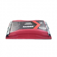 Шлайер ръчен RAIDER 210x100мм, пластмасов, с две метални щипки