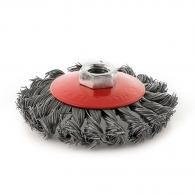 Четкa дисковa RAIDER ф100мм/М14, за ъглошлайф, конусна, плетена