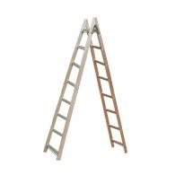 Дървена стълба 2x8, 2500мм, двустранна, домашна употреба