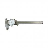 Шублер с индикатор часовник TOPMASTER 150мм, ± 0.02, с дълбокомер, стопорен винт, неръждаема стомана