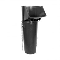 Улей направляващ за насипни материали RUBI 1.5м, полипропиленов, черен