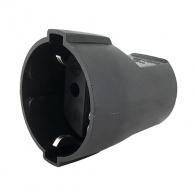 Контакт тип куплунг AS SCHWABE 16 A 250V, 20IP, черен, пластмаса, шуко стандарт, 1-контакт