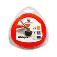Корда HUSQVARNA Whisper 2.4мм/15м, кръгла, безшумна, дължина 15м, червена