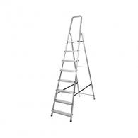 Алуминиевa стълба DRABEST ALD 7+1, 3600мм, едностранна, за домашна употреба, 150кг