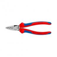 Клещи кербовъчни KNIPEX 0.25-16мм2, за изолирани кабелни накрайници, AWG 20-5, двукомпонентни дръжки