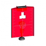 Мишена магнитна за лазерен нивелир LASERLINER, червена, с двойна скала