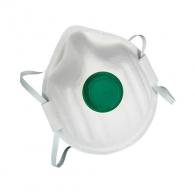 Маска MSA AFFINITY 1111 FFP1 NR D, с клапа, бяла със зелена клапа