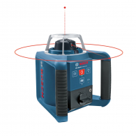 Ротационен лазерен нивелир BOSCH GRL 300 HV Professional, червен лазер, обхват 300m, точност 1mm/10m, автоматично