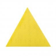 Шкурка велкро FLEX 300x300х300мм Р120, за гипсокартон, перфорирана, жълта, триъгълна, самозалепваща
