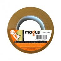 Двустранна монтажна лента за грапави повърхности MAGUS 25мм/25м, бяла, полиуретанова, за вътрешно приложение