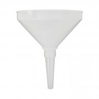 Фуния пластмасова BONEZZI ф210мм, с гъвкав накрайник и 50мм-цедка, пластмаса, бяла