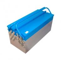 Куфар за инструменти UNIOR 460х210х235мм, метален, 2 дръжка, 5 отделения