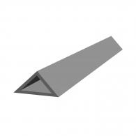 Профил за скосен ъгъл NEVOGA DREIKANTLEISTE 10, 2.5м, 10х10х15мм, в опаковка 100м