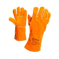 Ръкавици STENSO SAHARA, от цепена кожа, с маншет 15см , жълти