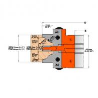 Сменяеми пластини CMT 25x30x2 B1, HW, за режеща глава, к-кт 2бр