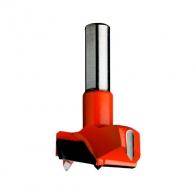 Свредло за панти CMT 20х57.5, LH-ляво, HW, Z2, V2, цилиндрична опашка 10х26мм