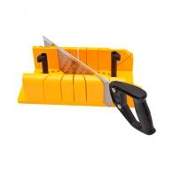 Трион пасвател с пластмасов шаблон STANLEY, за рязане под 90°, 45°, 22.5°, с пластмасова дръжка