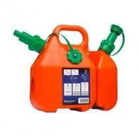 Комбинирана туба за масло и бензин HUSQVARNA 6/2.5л, пластмасова, оранжева