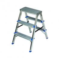 Алуминиевa стълба ELKOP DHR403 2+1, 649мм(на стълбата), двустранна,  за домашна употреба, 150г.