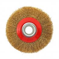 Четка дискова за шмиргел RAIDER ф200/20мм, месингова