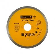 Диск диамантен DEWALT ф110x1.6x20мм, за гранит, мрамор и керамика, сухо и мокро рязане