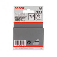 Кламери BOSCH 53/6мм 1000бр., тип 53, тънка тел, блистер