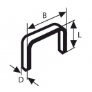 Кламери BOSCH 53/6мм 1000бр., тип 53, тънка тел, блистер  - small, 94174