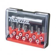 Комплект накрайници MAKITA 12части, PH, PZ, TX с магнитен държач