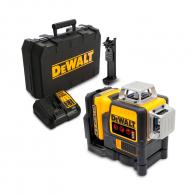 Линеен лазерен нивелир DEWALT DCE089D1R, 3 лазерни линии, точност 3mm/10m, 30м, автоматично