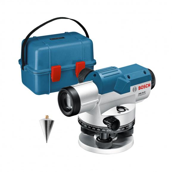 Оптичен нивелир BOSCH GOL 32 G Professional set, увеличение 32x, стандартно отклонение 1.0мм/30м