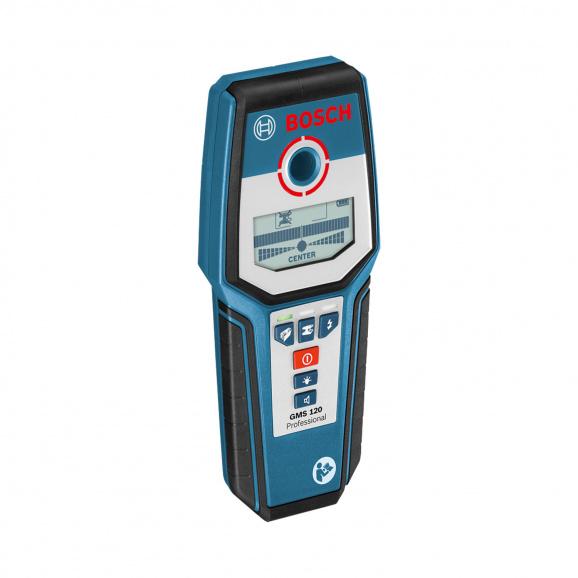 Скенер за стени BOSCH GMS 120, метал до 120мм, дърво до 38мм и проводници до 50мм